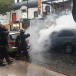 Se incendió un auto en Belgrano