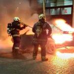 Auto incendiado en Núñez
