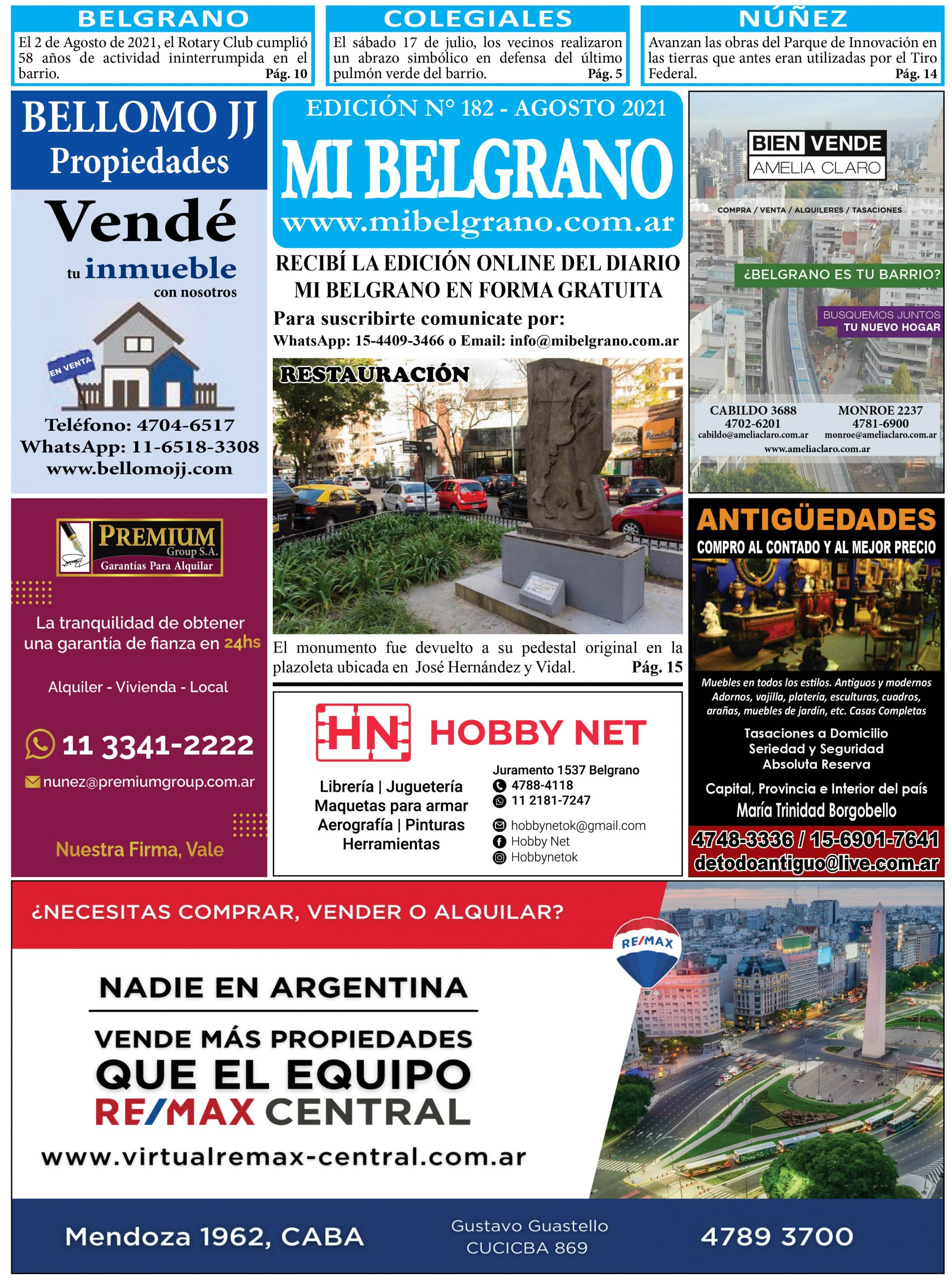 Diario Mi Belgrano Agosto