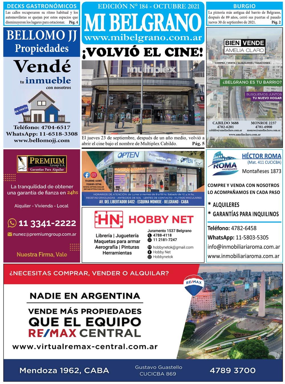 Diario Mi Belgrano Octubre